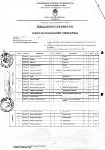 MODELO DE RESOLUCION DE CONVALIDACION